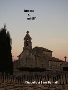 Sonnenuntergang am 24.12.2014 in Saint Pantaléon